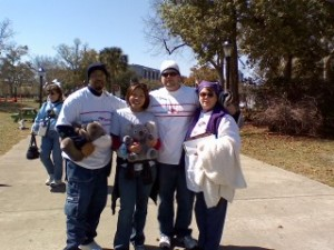 The first time we met, volunteer event for work at the Jacksonville Pet Expo