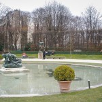 The garden at the Rodin museum