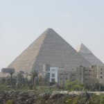 First view of the pyramids!