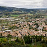 Magnificent view of the city below Orvieto